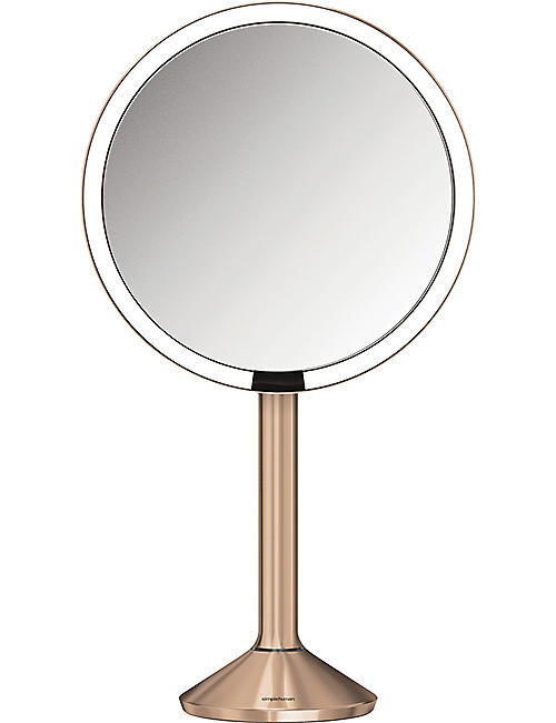 SIMPLE HUMAN: 20cm rose gold-toned steel sensor mirror pro