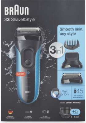 BRAUN S3 Shave & Style 3-in-1
