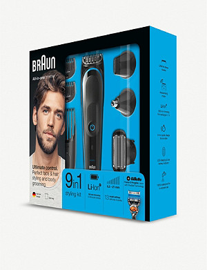 BRAUN 9-in-1 Cordless Multi grooming kit