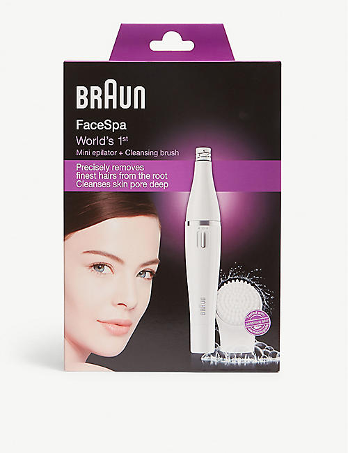 BRAUN: Facespa epilator and cleansing brush
