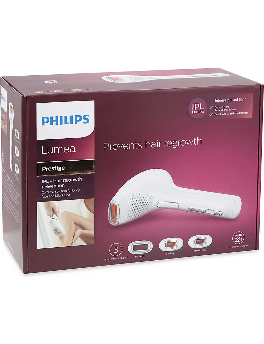 Philips Lumea Prestige Ipl Hair Regrowth Prevention