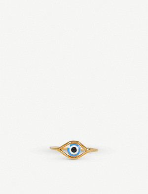 ISABEL MARANT Lucky gold-toned brass ring