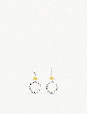ISABEL MARANT Gemstone silver-toned hoop earrings