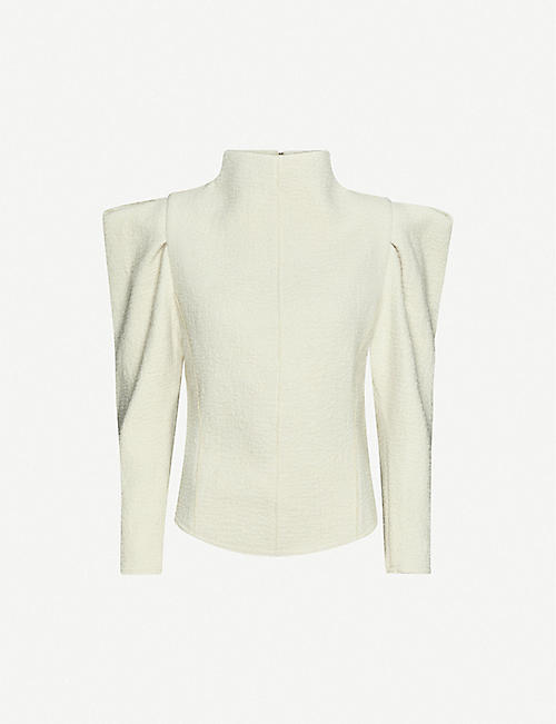 ISABEL MARANT Delphina funnel-neck wool top