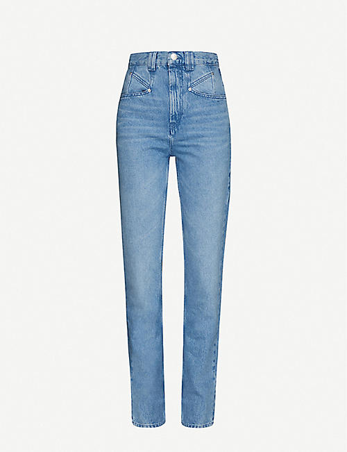 ISABEL MARANT Dominic straight-leg high-rise jeans