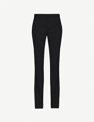 ISABEL MARANT Annabelle straight mid-rise wool-twill trousers