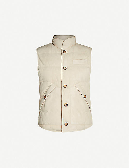 BRUNELLO CUCINELLI Suede down-filled gilet