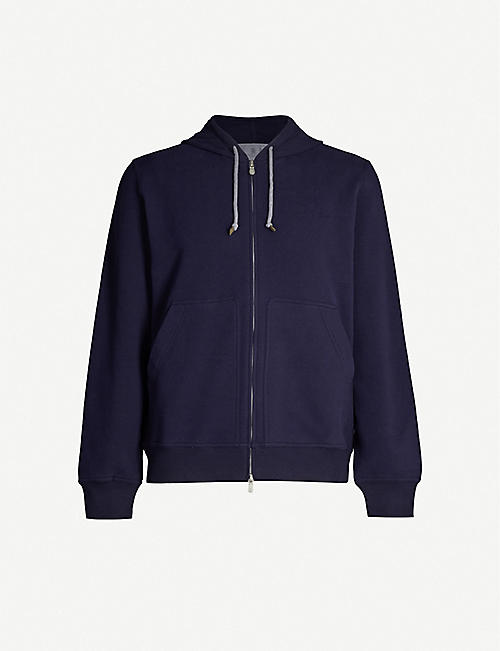 BRUNELLO CUCINELLI Zip-up cotton-jersey hoody