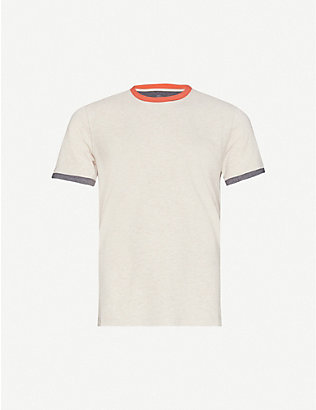 BRUNELLO CUCINELLI: Stripe-detail cotton-jersey T-shirt