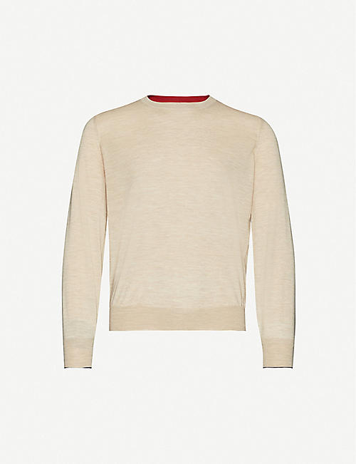 BRUNELLO CUCINELLI Crewneck wool and cashmere jumper