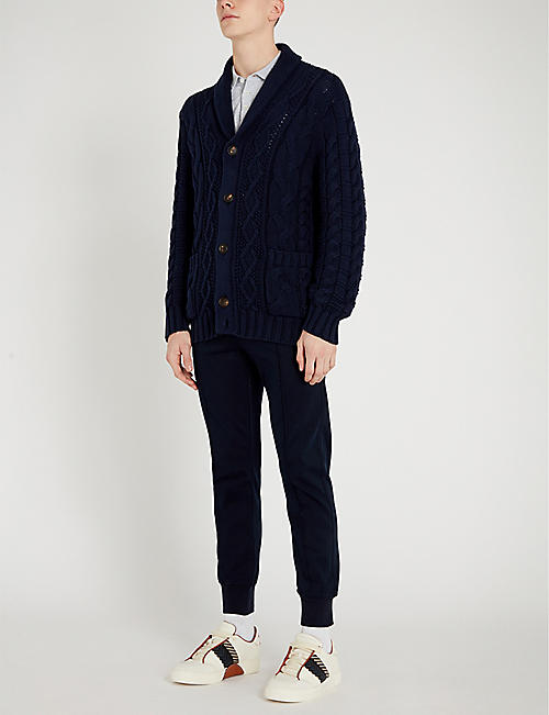 BRUNELLO CUCINELLI Cable-knit cotton cardigan