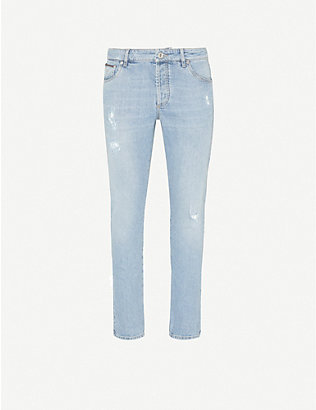 BRUNELLO CUCINELLI: Tapered ripped jeans