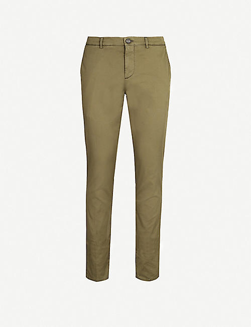 BRUNELLO CUCINELLI Slim-fit cotton-twill chinos