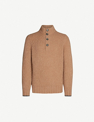 BRUNELLO CUCINELLI Funnel-neck alpaca wool-blend jumper