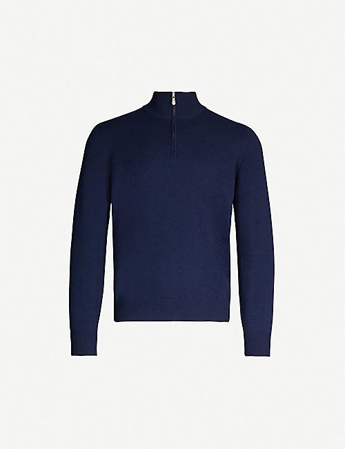BRUNELLO CUCINELLI Zip-detail wool-blend knitted jumper