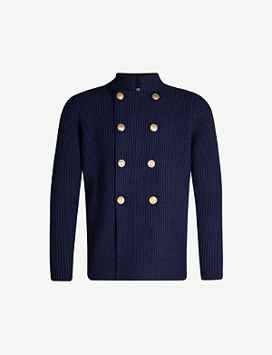 BRUNELLO CUCINELLI High-neck wool-blend cardigan
