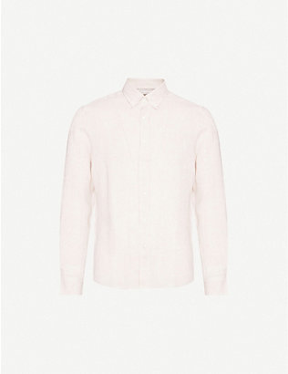 BRUNELLO CUCINELLI: Button-down leisure-fit linen shirt