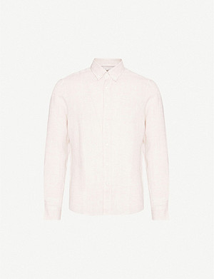 BRUNELLO CUCINELLI Button-down leisure-fit linen shirt