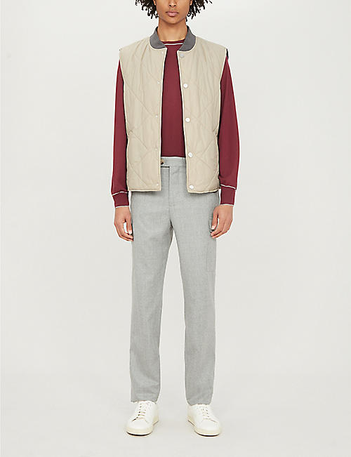 BRUNELLO CUCINELLI Regular-fit wool-flannel cargo trousers