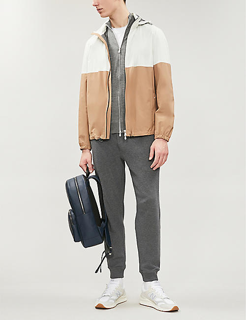 BRUNELLO CUCINELLI Hooded colour-block shell jacket