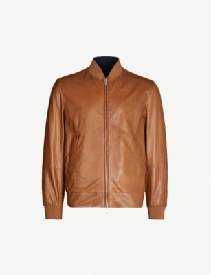 BRUNELLO CUCINELLI Reversible leather and shell bomber jacket