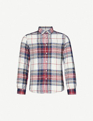 BRUNELLO CUCINELLI Checked linen shirt