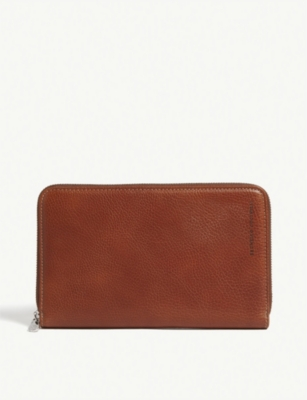 BRUNELLO CUCINELLI Textured leather travel wallet