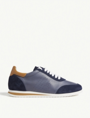 BRUNELLO CUCINELLI Leather and suede trainers