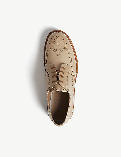 BRUNELLO CUCINELLI Brogue leather Derby shoes