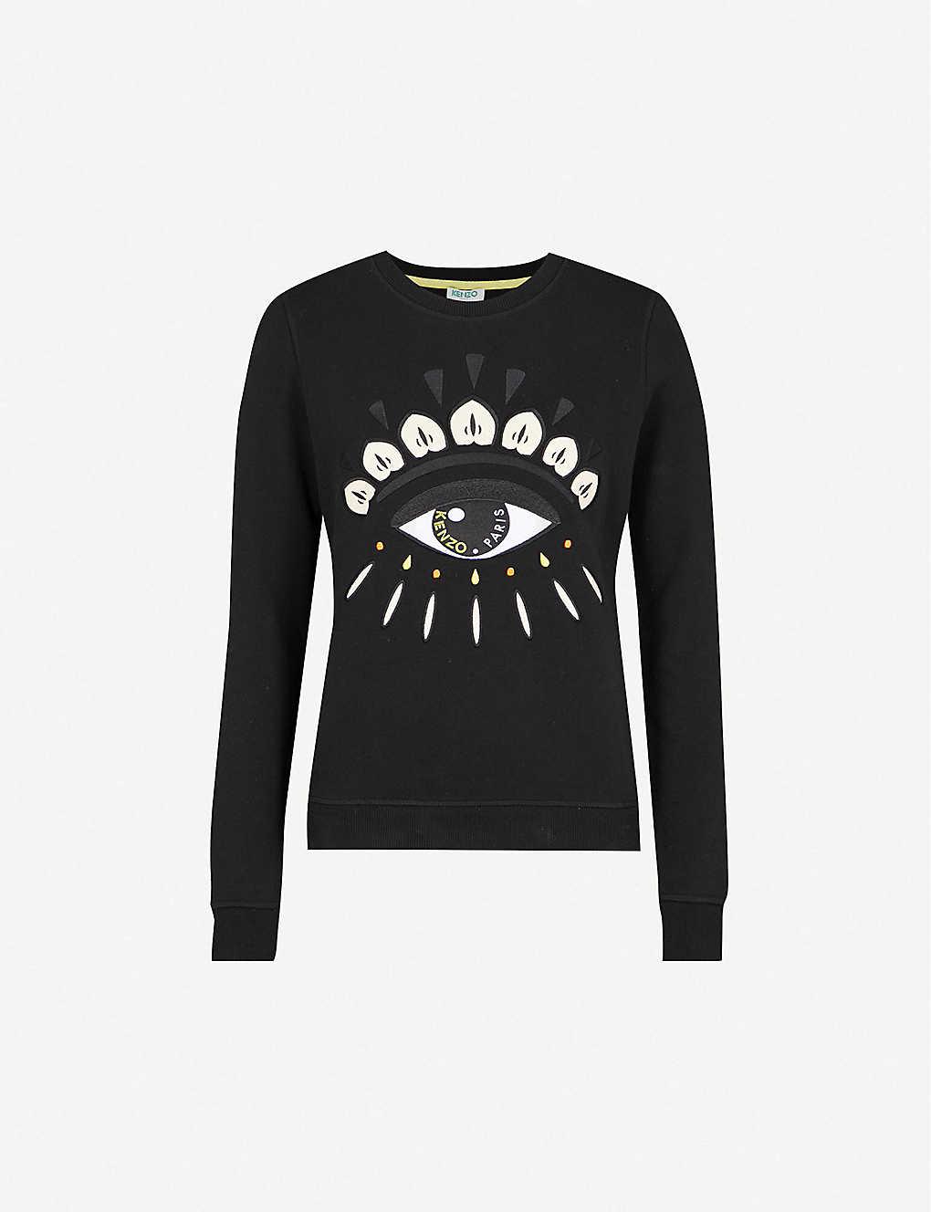 ca4ba559bc3 KENZO - Eye cotton-jersey sweatshirt | Selfridges.com