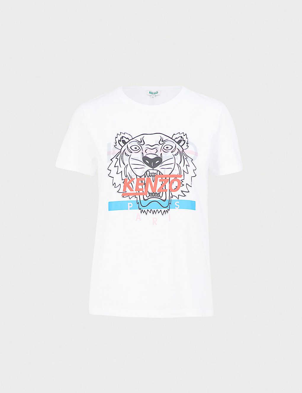 8a7ceaf5e KENZO - Hyper logo-print cotton-jersey T-shirt | Selfridges.com