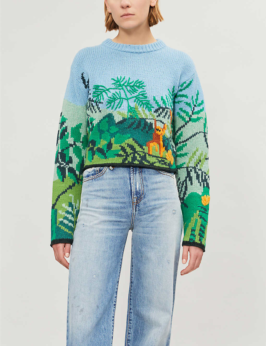 944b0bf8e KENZO - Jungle-instarsia wool-blend jumper | Selfridges.com