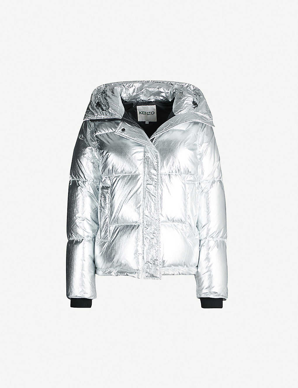 faf7ef5b KENZO - Metallic padded shell hooded jacket | Selfridges.com