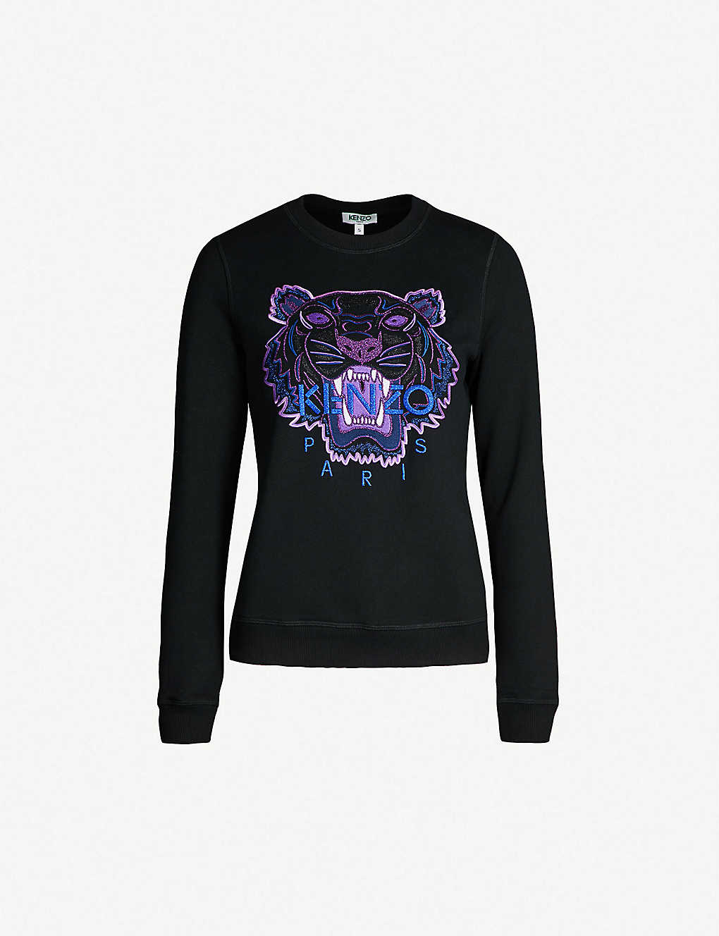 b2aaf120 KENZO - Tiger-embroidered cotton-jersey sweatshirt | Selfridges.com
