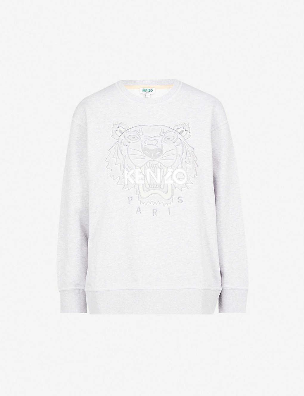 b2aaf120 KENZO - Tiger-embroidered cotton-jersey sweatshirt   Selfridges.com