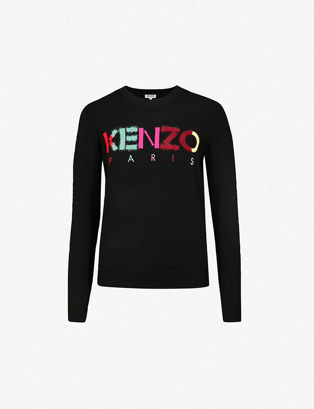 b027ed069 KENZO - Logo-intarsia wool-blend jumper | Selfridges.com