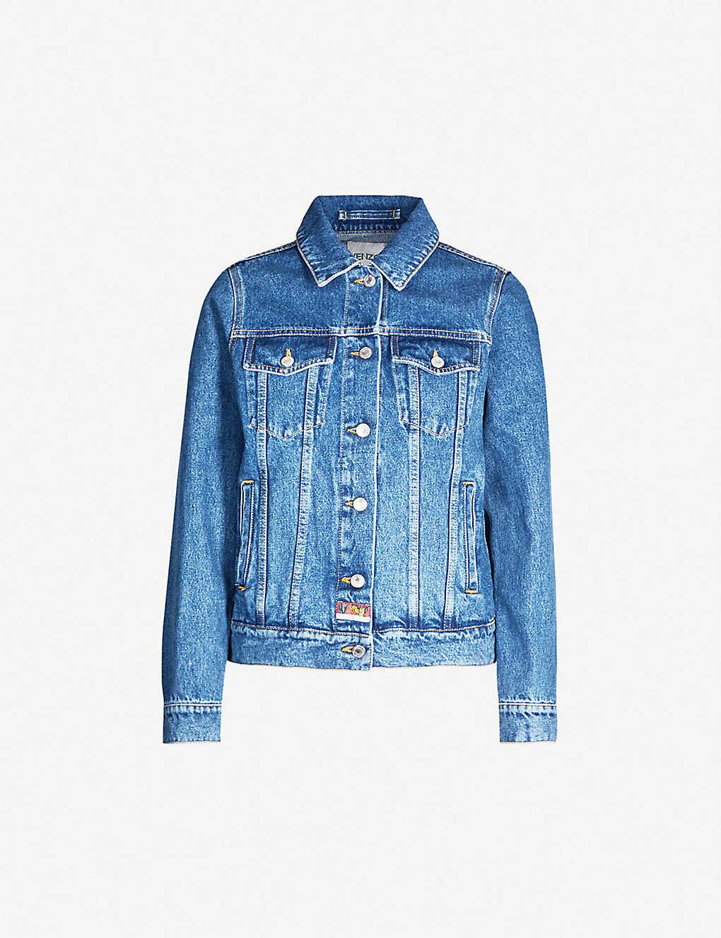 0cfb683c KENZO - Tiger-embroidered denim jacket | Selfridges.com