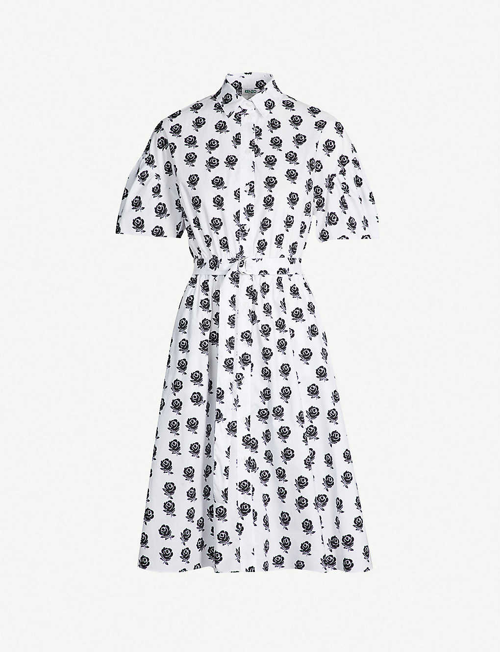 825ecb3a00 KENZO - Floral-pattern cotton-poplin shirt dress | Selfridges.com