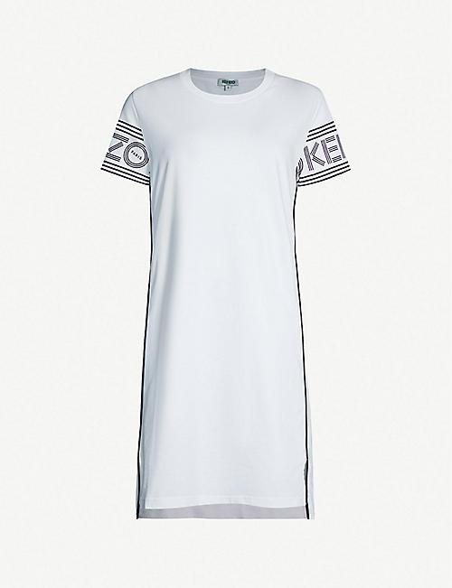 7eaa52d47aa99 KENZO Logo-print cotton-jersey dress