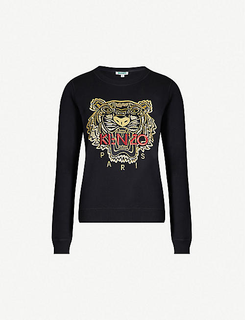 KENZO Chinese New Year Tiger-embroidered cotton-jersey sweatshirt 80bb5bdf811