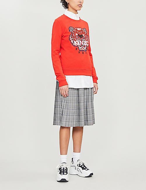 9f7085133 KENZO Tiger logo-print cotton-jersey sweatshirt. Quick Shop