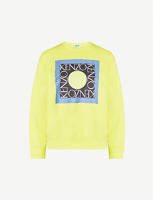 968d859f KENZO Square logo cotton-blend jersey sweathsirt
