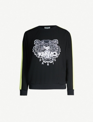 KENZO Tiger-embroidered crepe sweatshirt