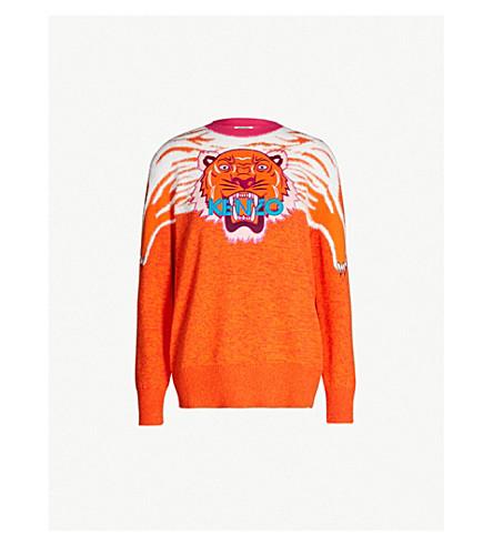 d17cd4c44 KENZO - Tiger Claw cotton-blend jumper | Selfridges.com