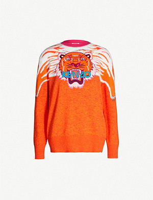 KENZO Tiger Claw cotton-blend jumper