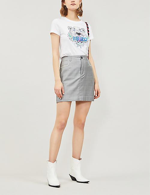 07fcaab899e KENZO Tiger-print cotton-jersey T-shirt