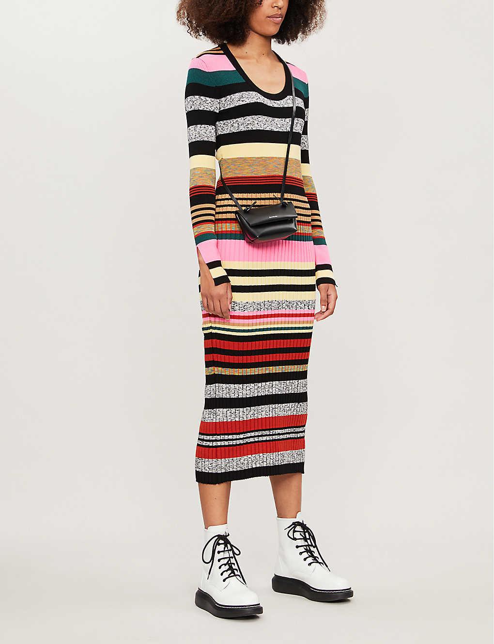 Kenzo Dress Striped knitted midi dress