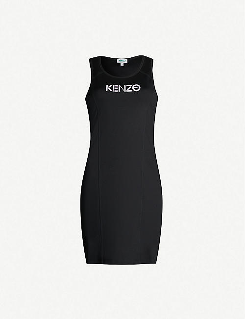 KENZO Branded sleeveless stretch-cotton dress
