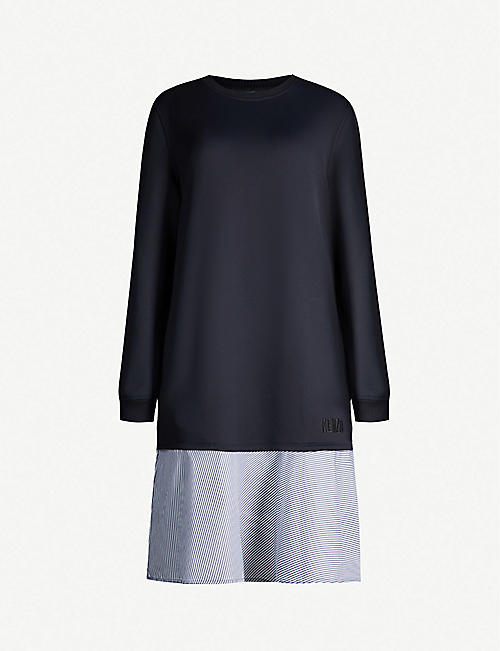 KENZO Layered woven mini shirt dress