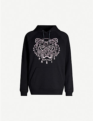 KENZO: Graphic-print cotton-jersey sweatshirt